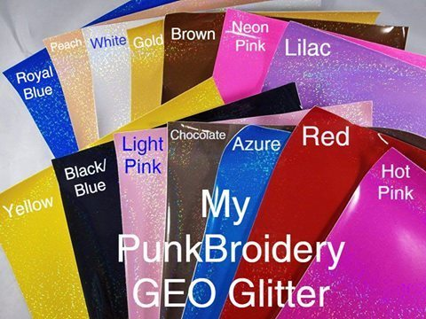 Geo Glitter  Vinyl Starter Pack of 20 sheets (1 of each color)