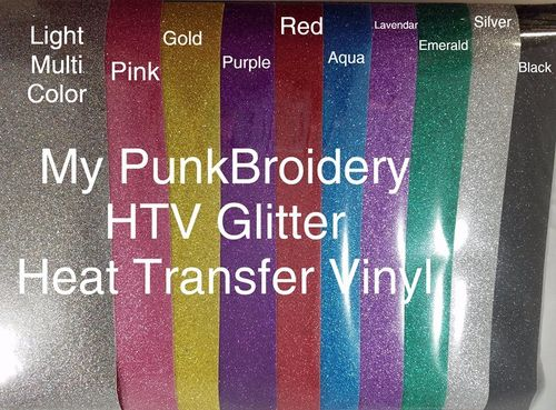 GLITTER Light Multi  HTV 10 x 12 inches Sheet Heat Transfer Vinyl