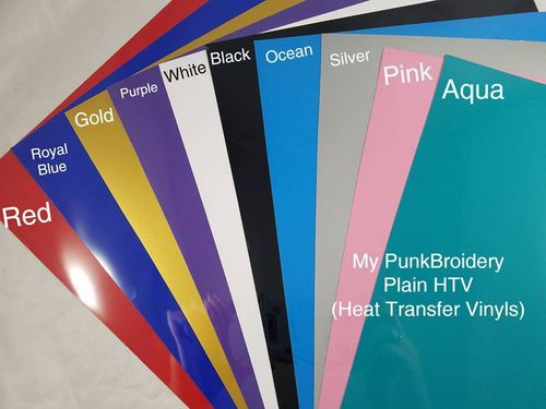 Silver HTV 10 x 12 inches Sheet Heat Transfer Vinyl