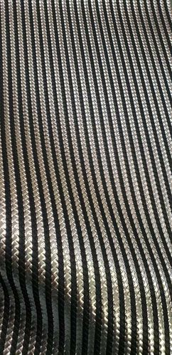 Silver/Black Stripes Vinyl Roll 12 X 53